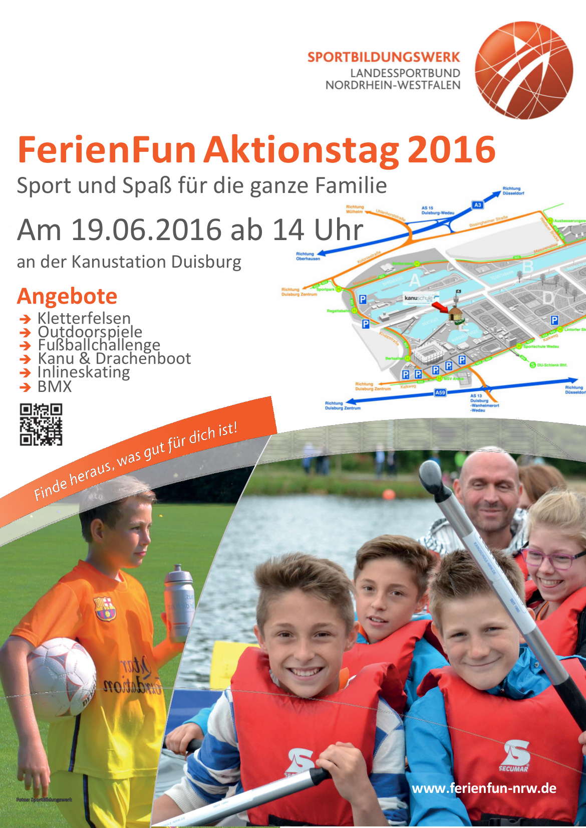 plakat ferien fun aktionstag kanustation 2016