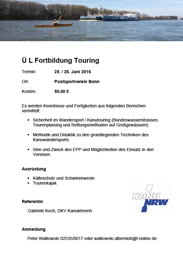 l fortbildung touring 2016